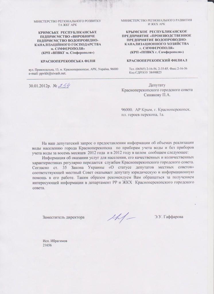 Гаффарова Синякову №1