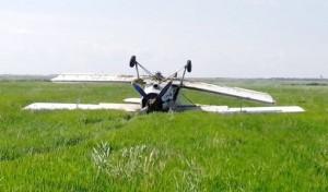 рухнул самолет