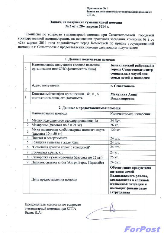 Благотв.помощь в севастополе-1
