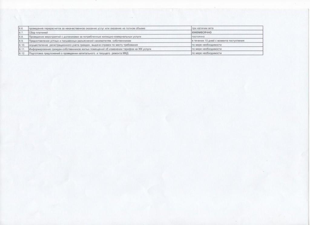 Перечень работ и услуг по содержанию общего имущества (5-этажные дома) 3-4