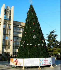 Полуголая елка в Евпатории